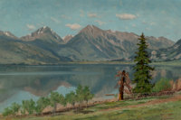 Charles Partridge Adams (American, 1858-1942) Twin Lakes, Colorado, 1895 Oil on canvas 16 x 24 in