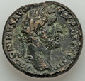 Ancients:Roman Imperial, Ancients: Antoninus Pius (AD 138-161). AE sestertius (31mm, 24.88 gm, 12h). XF. ...