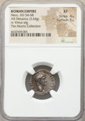 Ancients:Roman Imperial, Nero (AD 54-68). AR denarius (18mm, 3.64 gm, 5h). NGC XF 4...