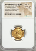 Ancients:Roman Imperial, Valentinian II (AD 375-392). AV solidus (21mm, 4.43 gm, 5h...