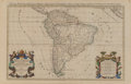 General Americana, A Framed Map Titled Amerique Meridionale by Paul Ernest Sa...
