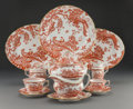 Ceramics & Porcelain, A Fifty-Nine-Piece Royal Crown Derby Red Aves Pattern Porcelain and Partial Gilt Dinner Service, Derby, England,... (Total: 59 Items)