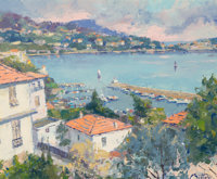 Pierre Bittar (French/American, b. 1934) Paysage a Villefranche Oil on canvas 18 x 22 inches (45