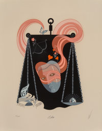 Erté (Russian/French, 1892-1990) The Zodiac, suite of twelve, 1982 Screenprints in colors on wove paper 25-1/2 x...