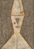 Works on Paper:Print, Rufino Tamayo (Mexican, 1899-1991). Cabeza con Sombrero, 1977. Mixograph in colors on paper. 17 x 12 inches (43.2 x 30.5...