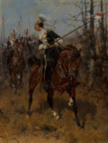 Paintings:Antique  (Pre 1900), Herman Willem Koekkoek (Dutch, 1867-1929). The Charge of the 17th Lancers, British Dragoon Regiment. Oil on panel. 12-3/...