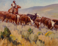 Jim Norton (American, b. 1953) On the Range Oil on board 15-1/2 x 19-3/4 inches (39.4 x 50.2 cm) Signed lower left: