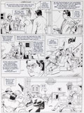 Original Comic Art:Panel Pages, Philippe Aymond Lady S. Tome 3 « 59° Latitude Nord » Planche18 (Dupuis, 2006)....