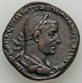 Ancients:Roman Imperial, Ancients: Trebonianus Gallus (AD 251-253). AE sestertius (26mm, 16.11 gm, 6h). XF, smoothed, scratches....