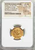 Ancients:Roman Imperial, Ancients: Gratian, Western Roman Empire (AD 367-383). AV solidus (22mm, 4.42 gm, 5h). NGC Choice AU 5/5 - 3/5, edge marks....