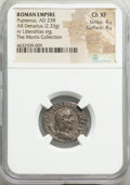 Ancients:Roman Imperial, Pupienus (April-July AD 238). AR denarius (20mm, 2.33 gm 1...