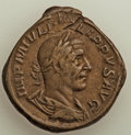 Ancients:Roman Imperial, Ancients: Philip I (AD 244-249). AE sestertius (31mm, 22.88 gm, 12h). VF....