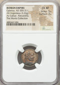 Ancients:Roman Imperial, Ancients: Galerius, as Caesar (AD 305-311). AR argenteus (18mm, 3.26 gm, 12h). NGC Choice XF 5/5 - 3/5....
