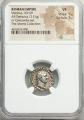 Ancients:Roman Imperial, Ancients: Vitellius (July-December AD 69). AR denarius (18mm, 3.51 gm, 6h). NGC VF 5/5 - 5/5....