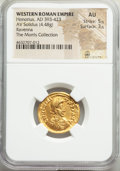 Ancients:Roman Imperial, Honorius, Western Roman Empire (AD 393-423). AV solidus (2...