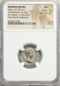 Ancients:Roman Imperial, Geta, as Caesar (AD 209-211). AR denarius (20mm, 3.32 gm, ...