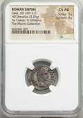 Ancients:Roman Imperial, Geta, as Caesar (AD 209-211). AR denarius (20mm, 3.29 gm, ...