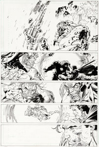 Jim Lee et Scott Williams Superman n°215 Original de la page 23 (DC, 2005)