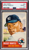Baseball Cards:Singles (1950-1959), 1953 Topps Mickey Mantle #82 PSA Good+ 2.5....