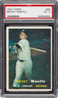 Baseball Cards:Singles (1950-1959), 1957 Topps Mickey Mantle #95 PSA EX 5. Offered is ...