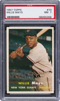 Baseball Cards:Singles (1950-1959), 1957 Topps Willie Mays #10 PSA NM 7. Offered is a ...
