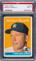 Baseball Cards:Singles (1950-1959), 1958 Topps Mickey Mantle #150 PSA NM 7. Offered is...