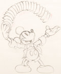 Animation Art:Production Drawing, Magician Mickey Mickey Mouse Layout Drawing (Walt Disney, 1937)....