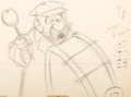 Animation Art:Production Drawing, Mary Poppins Pearly Band Drummer Animation Drawing (WaltDisney, 1964)....