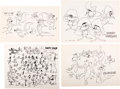 "animation art:Model Sheet, ""The Art of Looney Tunes"" Studio Model Sheets Group of 8 (Warner Brothers, c. 1950s-60s).... (Total: 8 Items)"