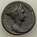 Ancients:Roman Imperial, Sabina (AD 128-136/7) AE sestertius (32mm, 25.38 gm, 7h). ...