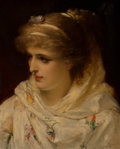 Fine Art - Painting, European:Antique  (Pre 1900), Joseph Coomans (Belgian, 1816-1889). A young beauty, 1881.Oil on panel. 18 x 14-1/2 inches (45.7 x 36.8 cm). Signed, in...