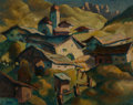 Fine Art - Painting, European:Modern  (1900 1949), Herbert Gurschner (German, 1901-2001). A Tyrol landscape.Oil on canvas laid down on Masonite. 21-1/2 x 27 inches (54.6 ...