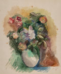 Paintings:Watercolor, Jean Dufy (French, 1888-1964). Bouquet de fleurs, 1921. Watercolor and gouache on paper. 19-1/4 x 16-3/4 inches (48.9 x ...