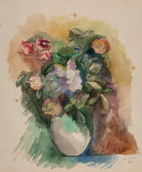 Jean Dufy (French, 1888-1964) Bouquet de fleurs, 1921 Watercolor and gouache on paper 19-1/4 x 16