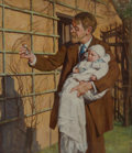 Paintings:Antique  (Pre 1900), George Hall Neale (British, 1863-1940). Nicholas' Grandfather. Oil on canvas. 30 x 26 inches (76.2 x 66.0 cm). Inscribed...