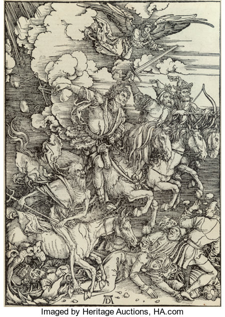 Albrecht Dürer (German, 1471-1528) The Four Horsemen of the Apocalypse, from The Apocalypse, c. 1498, from the edition ...