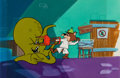 Animation Art:Production Cel, The Quick Draw McGraw Show Snooper Production Cel Setup withPainted Background (Hanna-Barbera, 1959)....