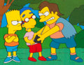 Animation Art:Production Cel, The Simpsons Bart, Milhouse and Nelson Production Cel Setup (Fox, 1996)....