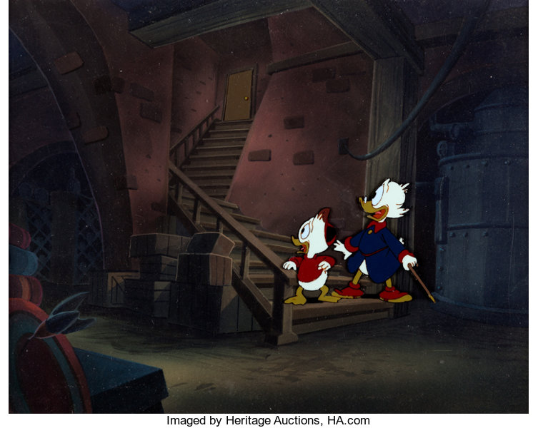 DuckTales Scrooge and Huey Production Cel with Master