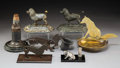Decorative Arts, Continental, Six Metal Dog-Form Cigar Cutters, late 19th-early 20th century .Marks to poodle-form cigar cutters: DRG, Musterschutz. ...(Total: 6 Items)