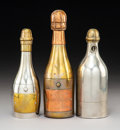 Metalwork, Three Metal Champagne Bottle Form-Cigar Cutters, late 19th-early 20th century . Marks to two: Veuve Cliquot Reims. 8-1/4... (Total: 3 Items)