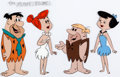 Animation Art:Color Model, The Flintstones Fred, Wilma, Barney and Betty Color ModelCel (Hanna-Barbera, 1965/'66)....