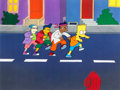 Animation Art:Production Cel, The Simpsons Bartman Production Cel (Fox, 1991)....