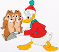 Animation Art:Production Cel, Corn Chips Donald Duck and Chip 'n' Dale Production CelsGroup of 2 (Walt Disney, 1951).... (Total: 2 Items)