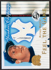 2000 Fleer Greats Of The Game Yankees Clippings Mickey Mantle Jersey Card