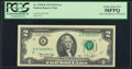 Error Notes:Shifted Third Printing, Minor Shifted Third Printing Error Fr. 1935-K $2 1976 Federal Reserve Note. PCGS Choice About New 58PPQ.. ...