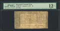 Colonial Notes:Maryland, Maryland January 1, 1767 $4 PMG Fine 12 Net.. ...