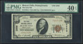 National Bank Notes:Pennsylvania, Beaver Falls, PA - $10 1929 Ty. 1 The First NB Ch. # 3356 PMG Extremely Fine 40 EPQ.. ...