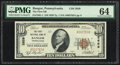 National Bank Notes:Pennsylvania, Bangor, PA - $10 1929 Ty. 1 The First NB Ch. # 2659 PMG Choice Uncirculated 64.. ...