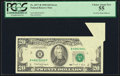 Error Notes:Foldovers, Pre-Face Print Foldover Error Fr. 2077-B $20 1990 Federal Reserve Note. PCGS Choice About New 55.. ...